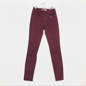 pacsun high waisted maroon jeans size 7